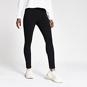 Petite – Schwarze Jersey-Leggings im Paneelen-Design