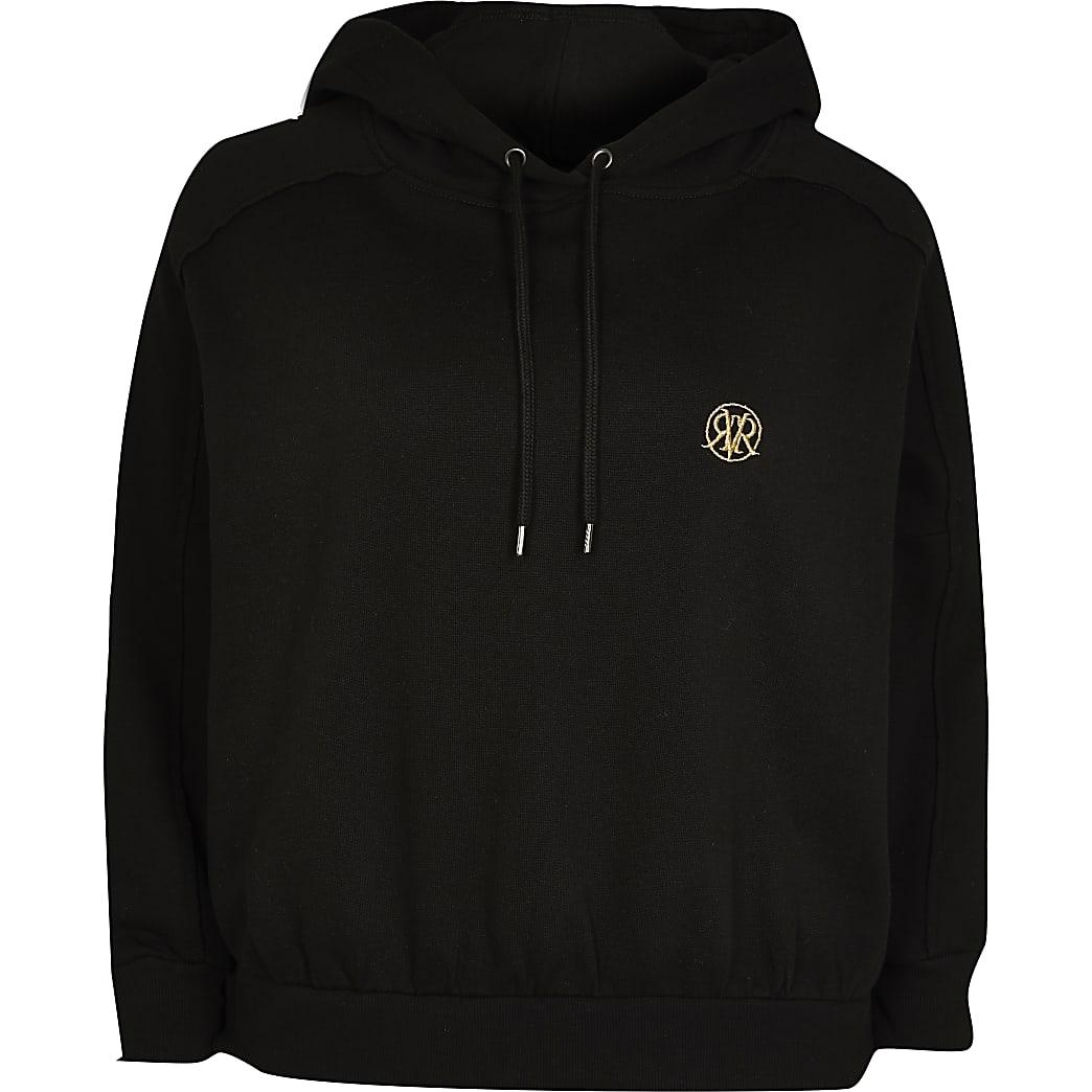 Petite black long sleeve hoodie