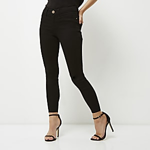 Petite black Molly mid rise jeggings
