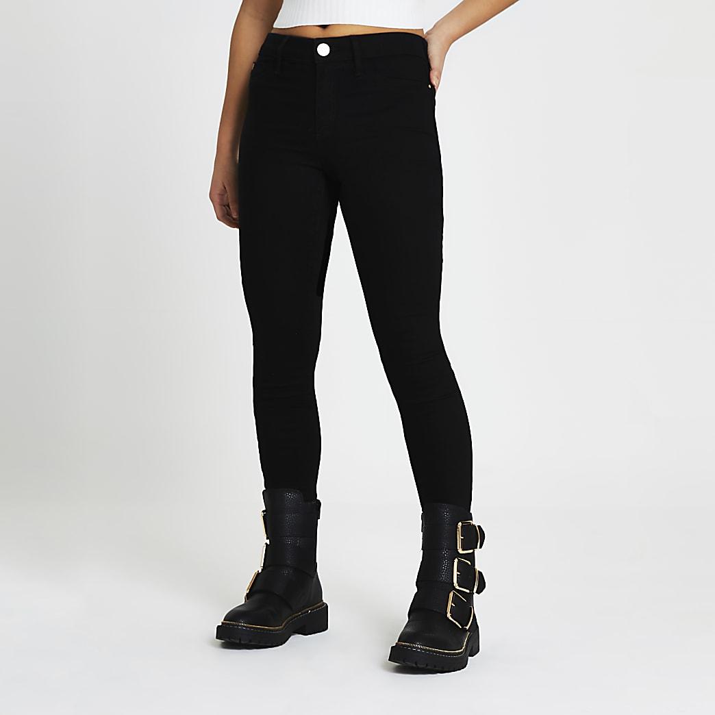 Petite Black Molly Mid Rise skinny Jean