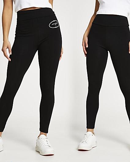 Petite black RI leggings pack of 2