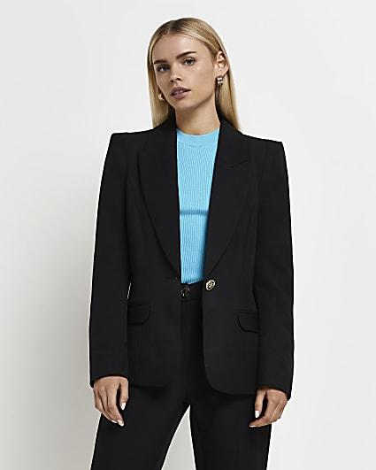 Petite black tailored blazer