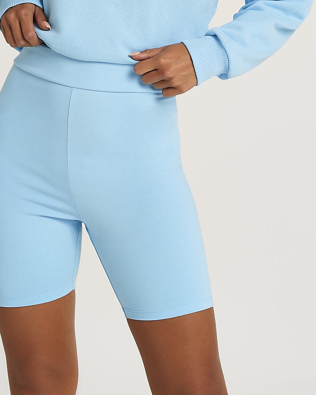 Petite blue cycling shorts