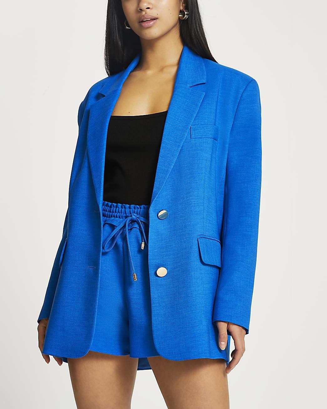 Petite blue dad blazer