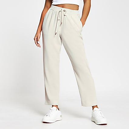Petite Cream Tailored Joggers