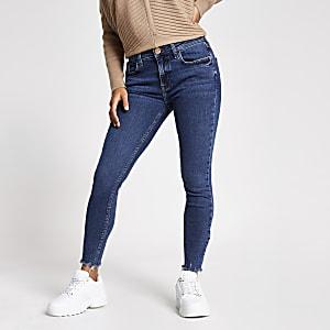 Amelie – Dunkle Superskinny Jeans in Kurzgröße