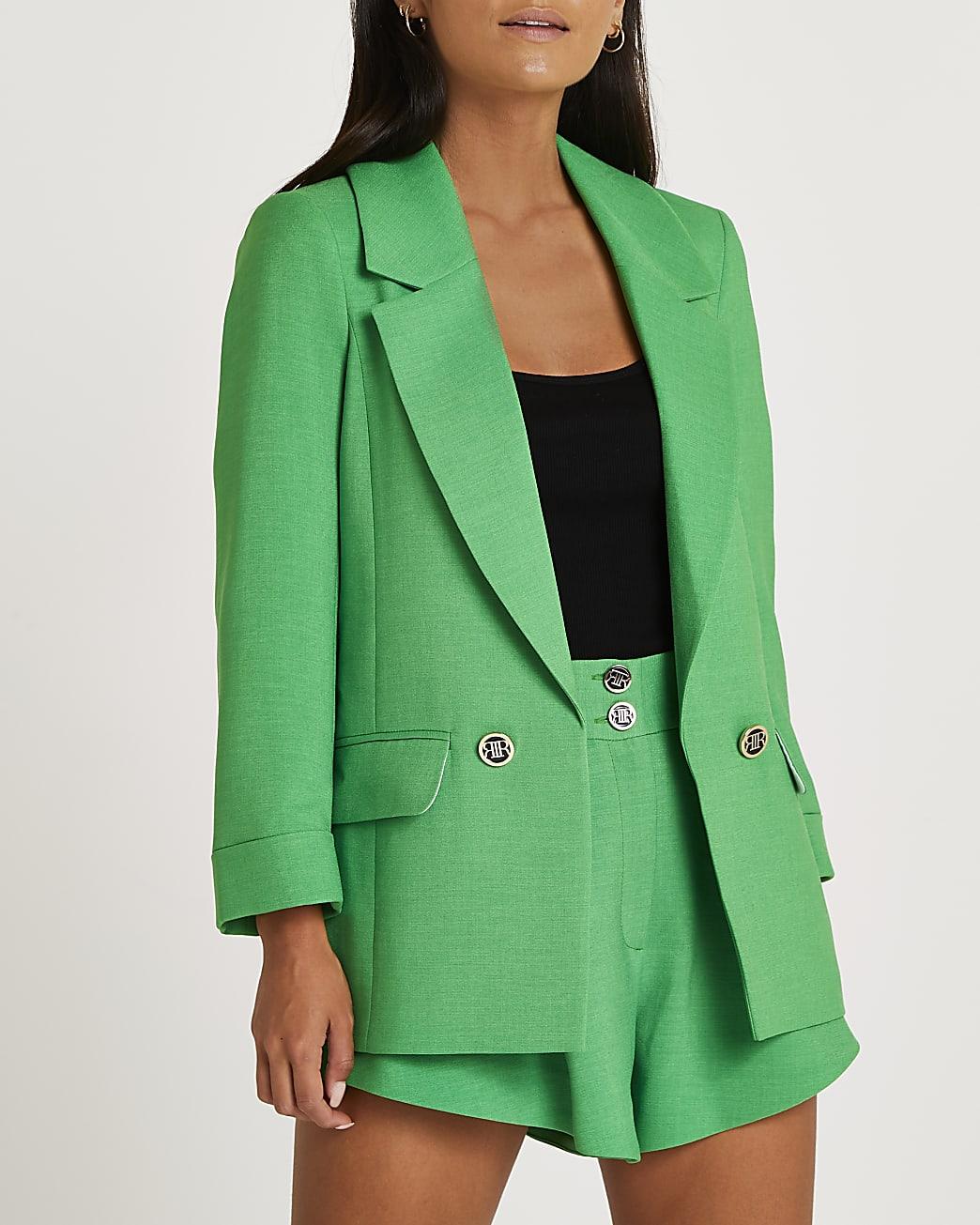Petite green blazer