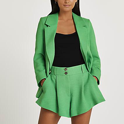 Petite green shorts
