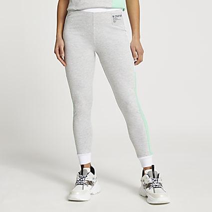 Petite grey colour block leggings