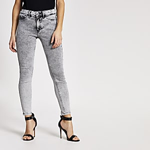 Jegging Petite Molly gris taille mi-haute