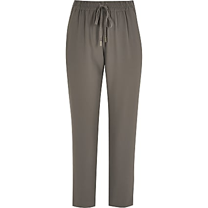 Petite grey tailored joggers