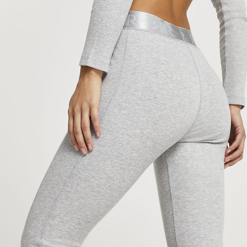 Petite Intimates grey RI ribbed leggings