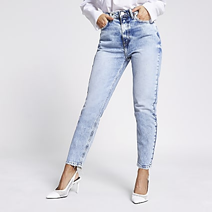 Petite light blue Brooke high rise slim jeans