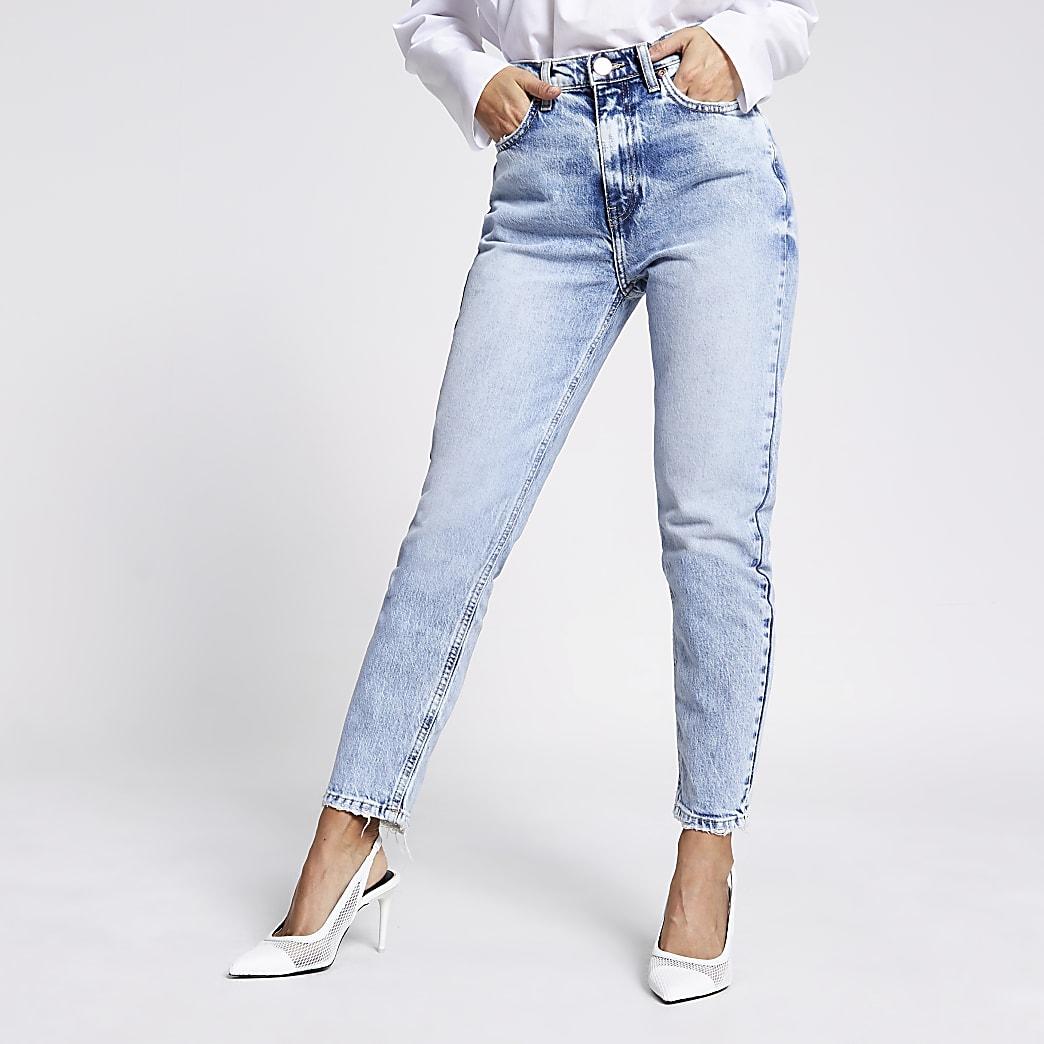 RI Petite - Lichtblauwe slim-fit Brooke jeans met hoge taille