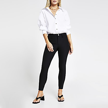 Petite Moly mid rise skinny trousers