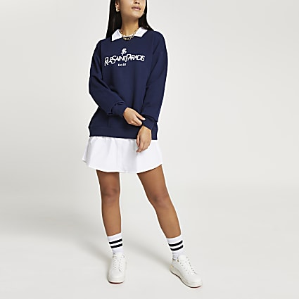 Petite navy 'Rue Saint Paradis' sweatshirt