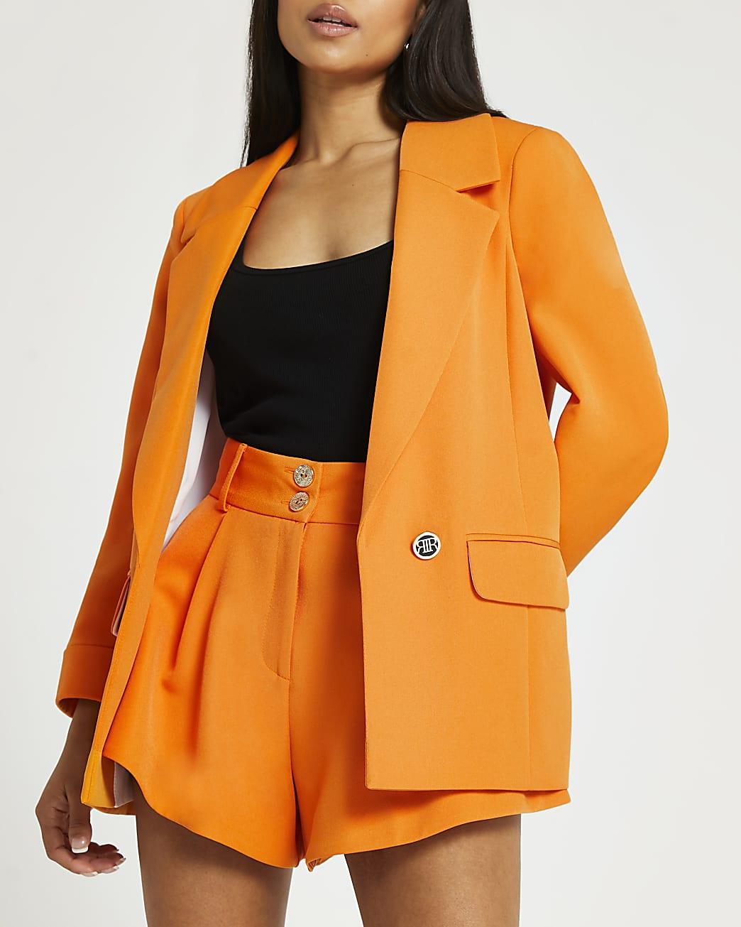 Petite orange blazer
