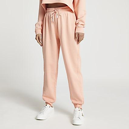 Petite orange seam detail cuffed jogger