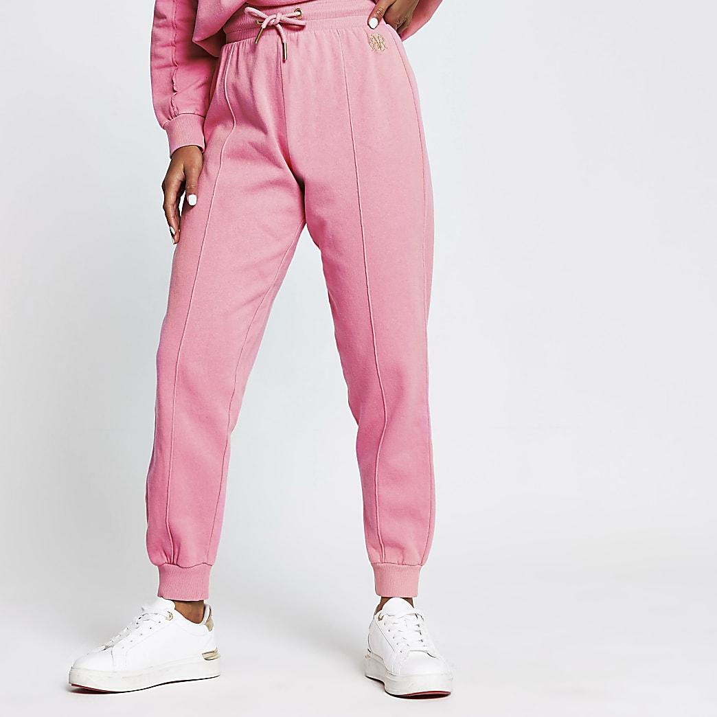 Petite pink seam detail joggers