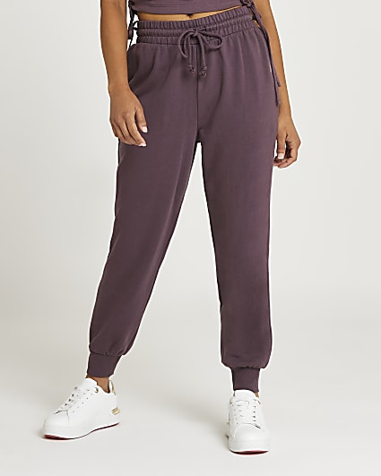 Petite purple relaxed fit joggers