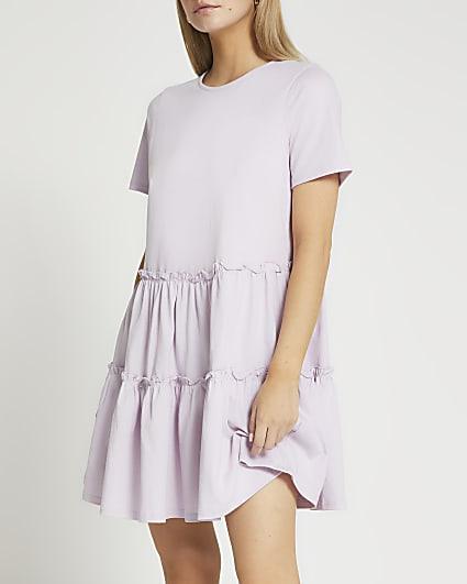 Petite purple t-shirt mini dress