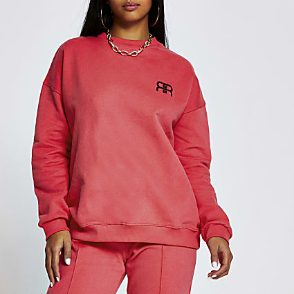 Petite red RR sweat