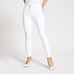 RI Petite - Molly - Witte jegging met halfhoge taille