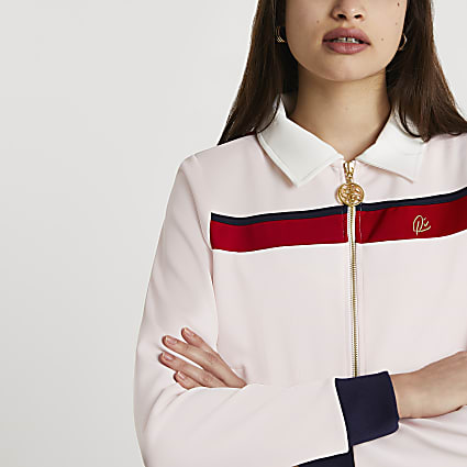Pink - Light LS Premium Zip Through Jacket