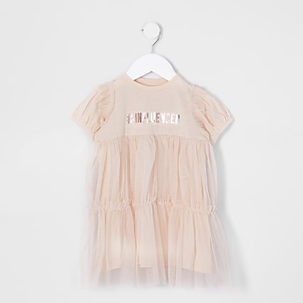 Pink - Light MG Influencer Mesh Overlay Tsh