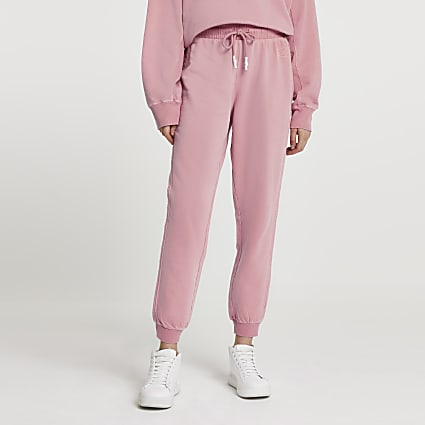Pink ankle cuff jogger