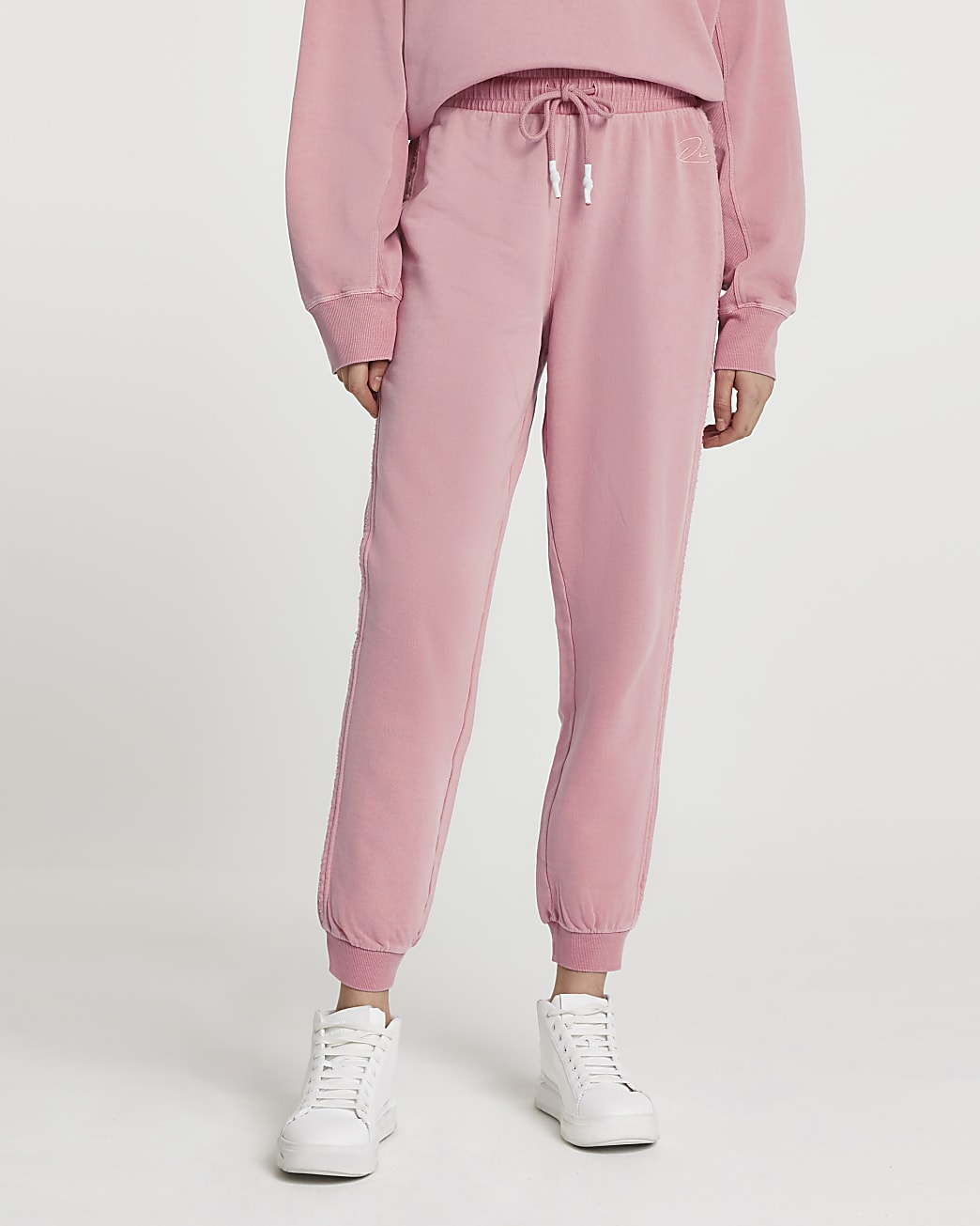 Pink ankle cuff joggers