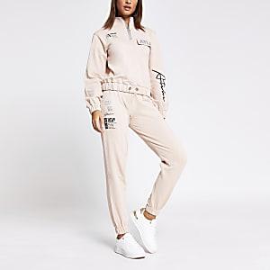 Roze joggingbroek met 'ATLR'-print