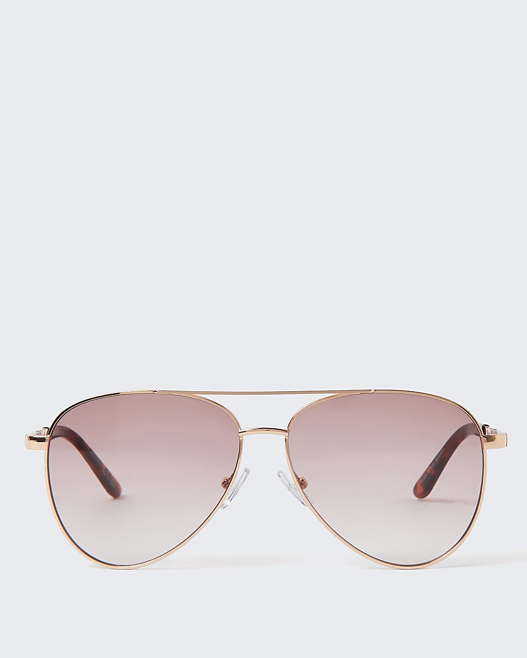 Pink aviator studded sunglasses