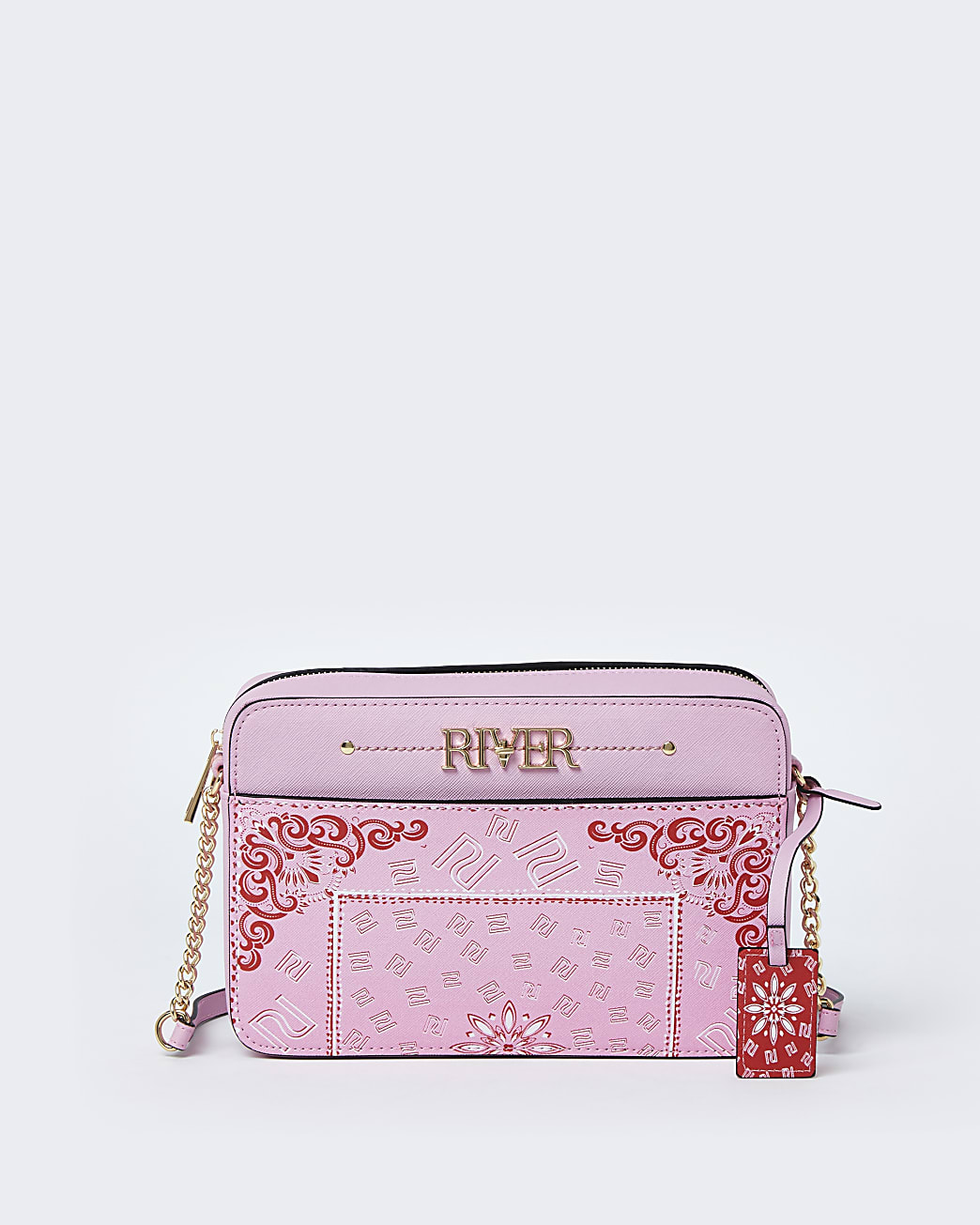 Pink bandana print boxy bag