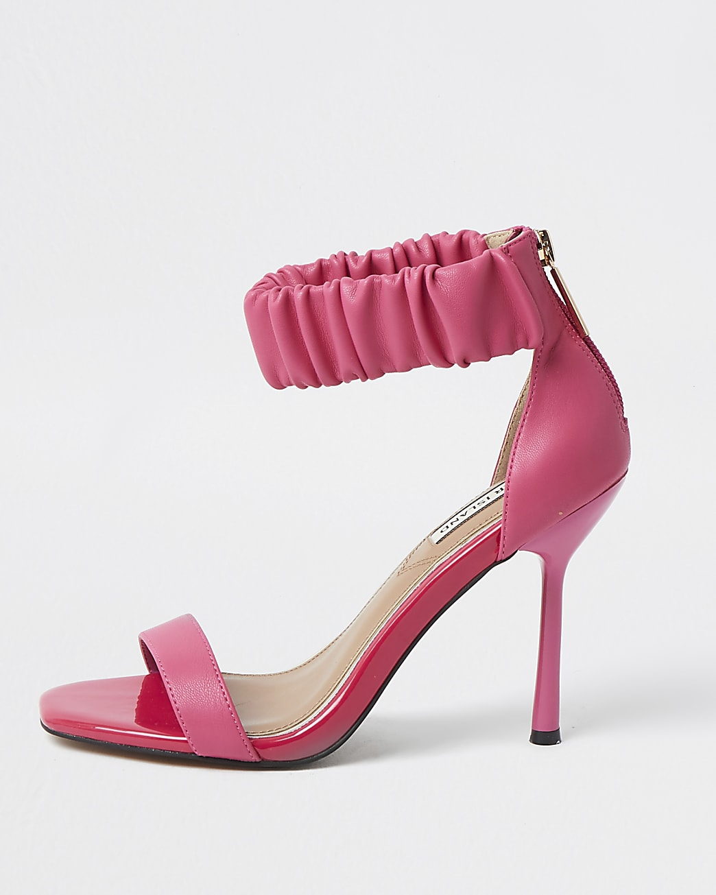 Pink barely there sandal