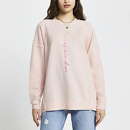 Pink 'Bisous Mon Cheri' sweatshirt