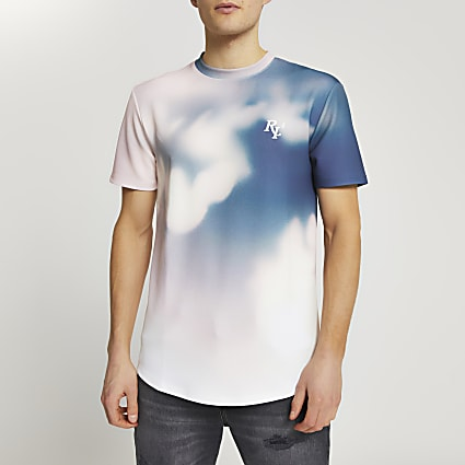 Pink cloud pink slim fit t-shirt