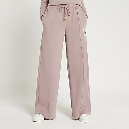 Pink couture detail wide leg joggers
