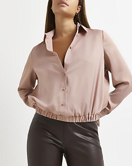 Pink cuffed shirt