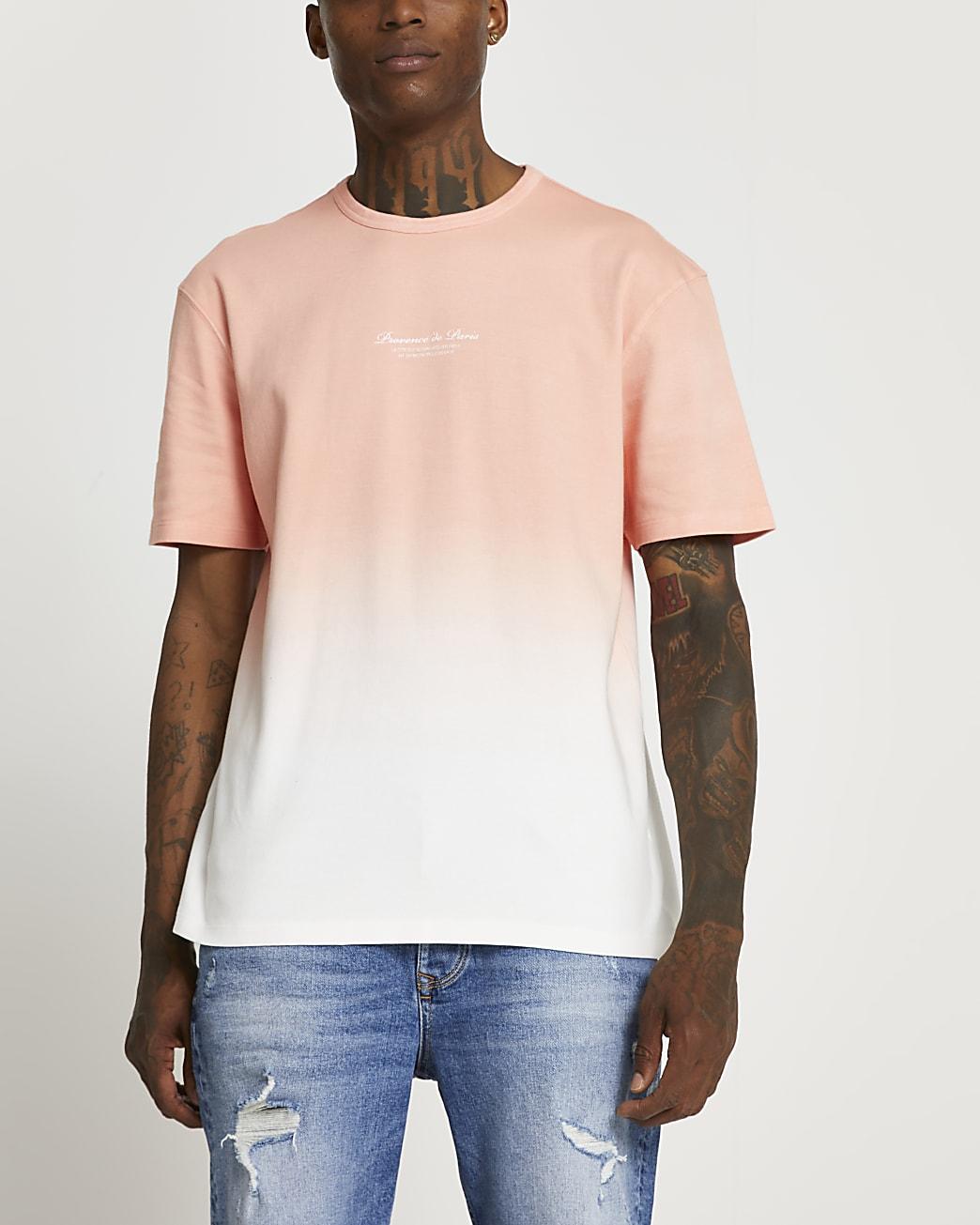Pink dip dye fade t-shirt