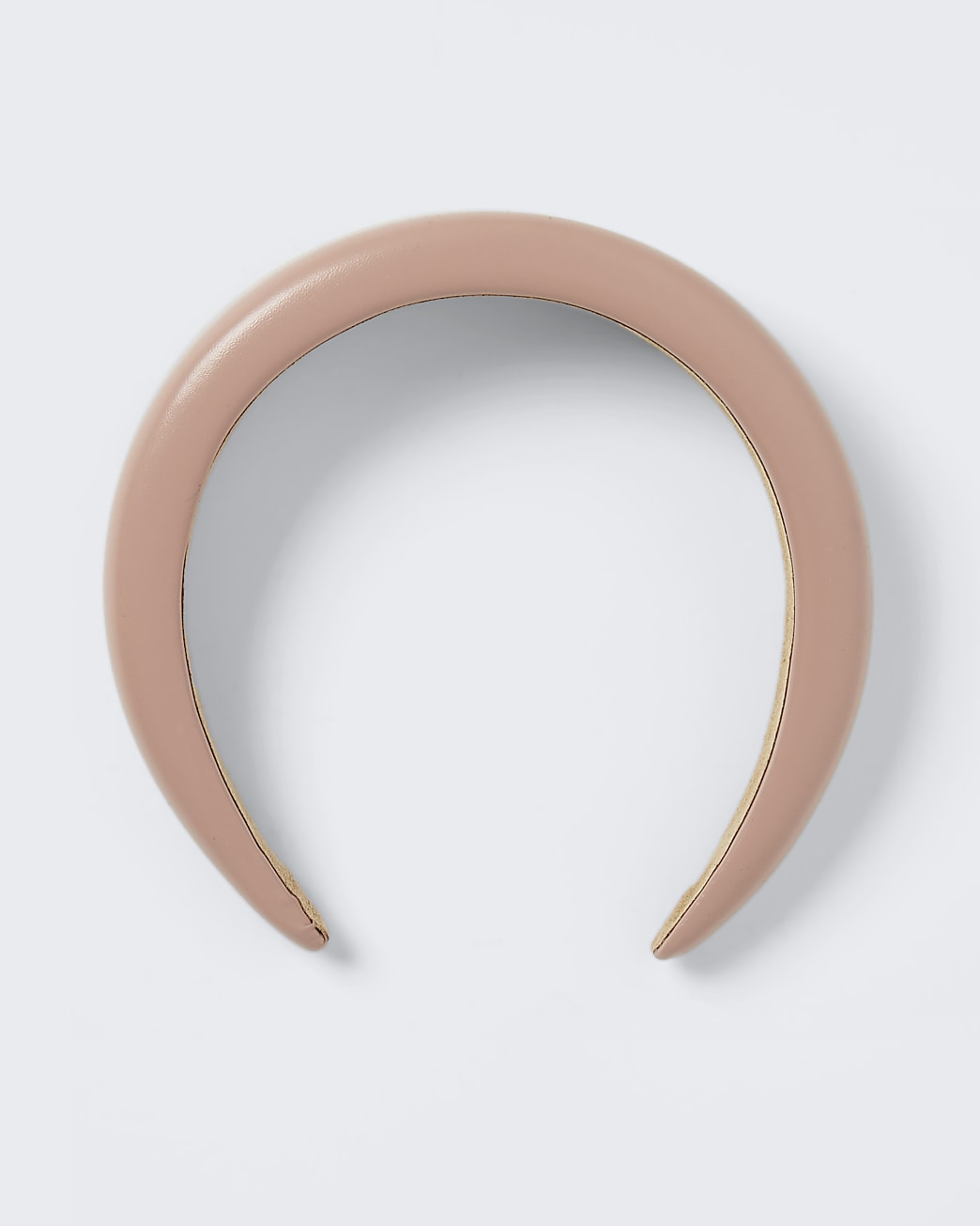 Pink faux leather padded headband