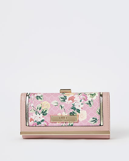 Pink floral purse