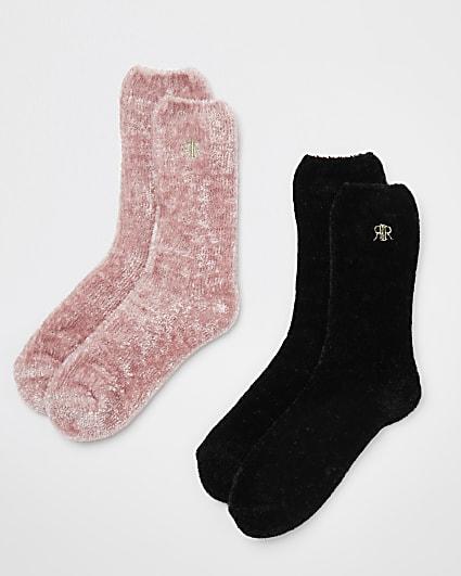 Pink fluffy socks multipack