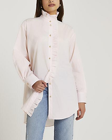 Pink frill detail shirt