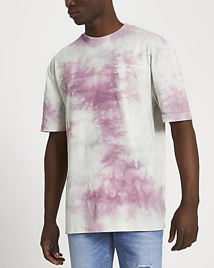 Pink graphic tie dye t-shirt