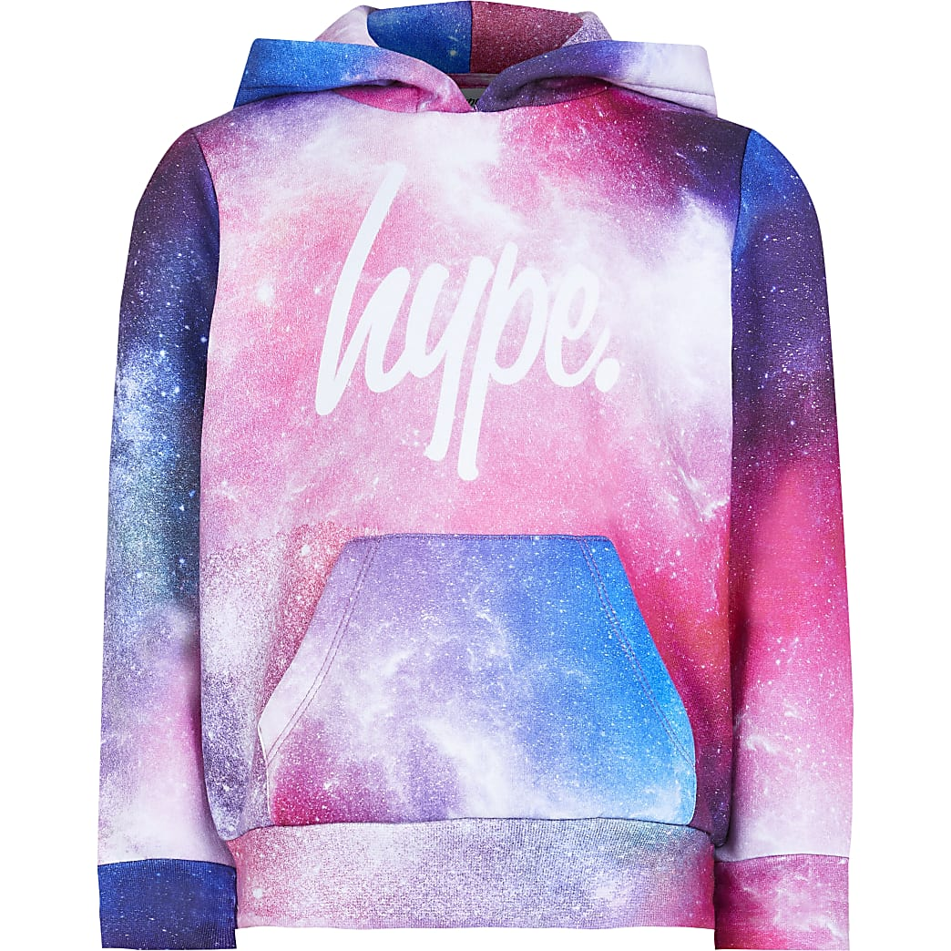 Pink Hype cosmic long sleeve hoodie