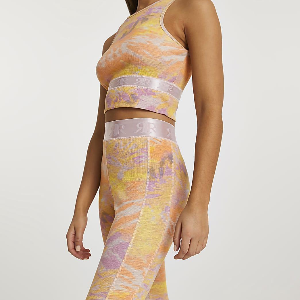 Pink Intimates tie dye rib leggings