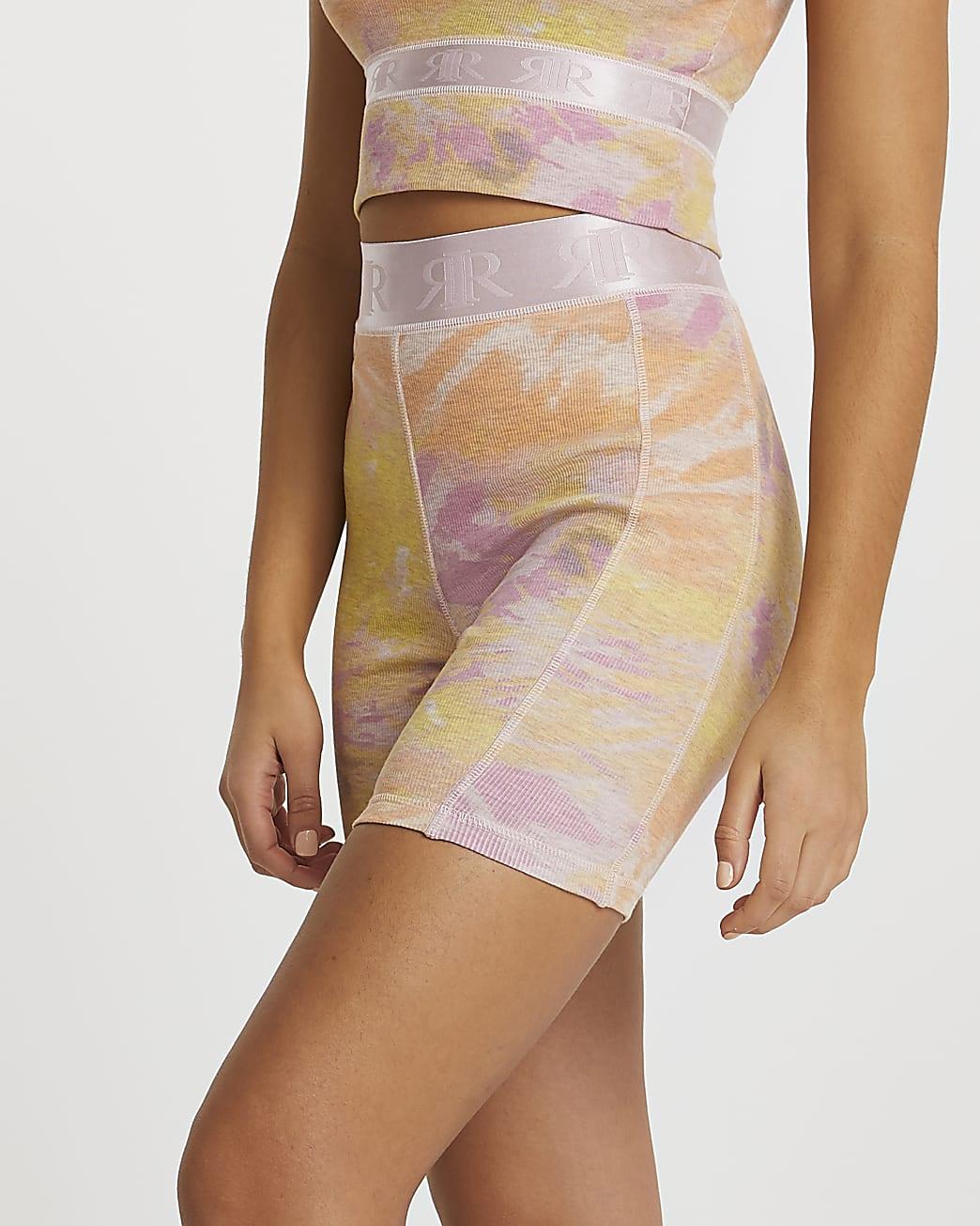 Pink Intimates tie dye ribbed cycling shorts