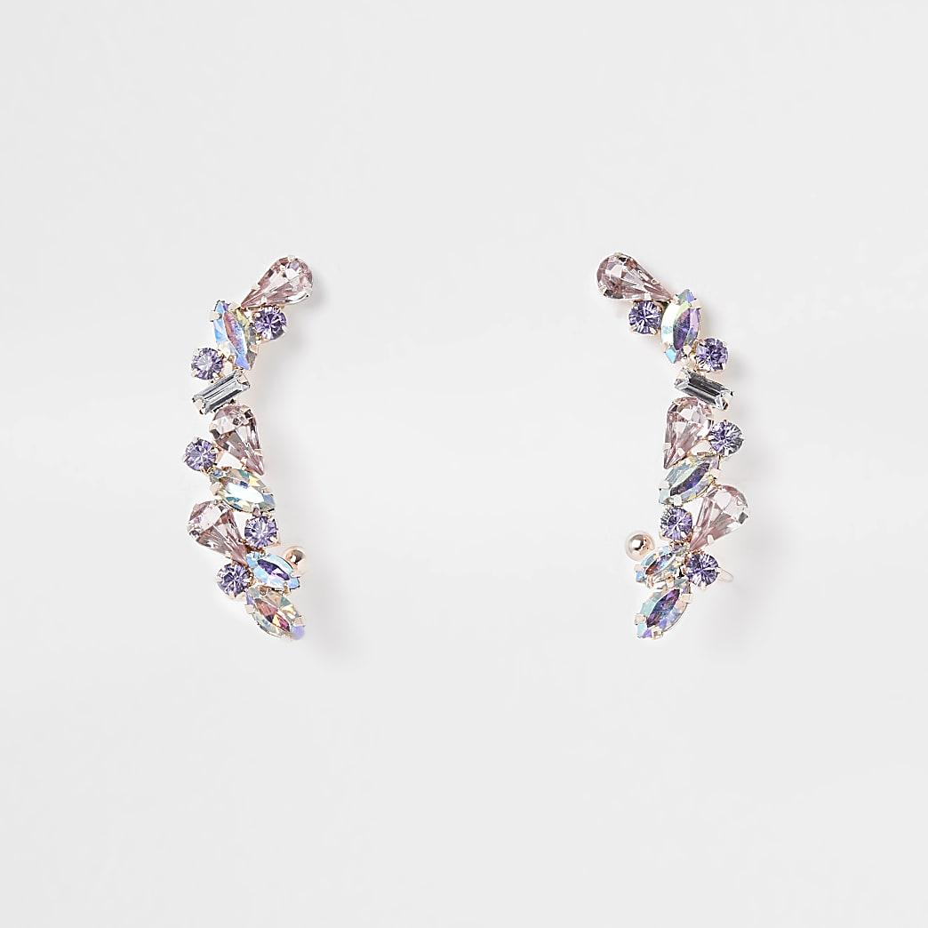 Pink jewelled ear cuff