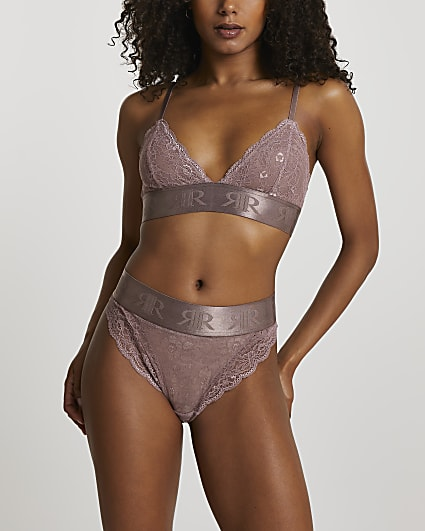Pink lace knickers